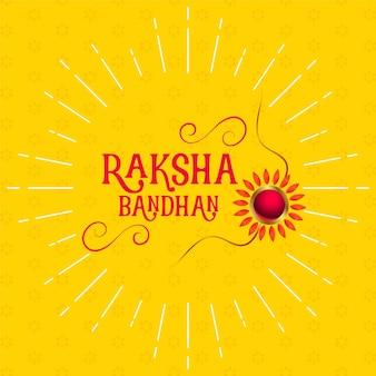 Stilvolles raksha bandhan gelbes grußdesign
