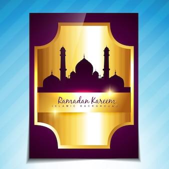Stilvolles ramadan kareem festival schablonenentwurf