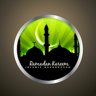 Stilvolles ramadan kareem label design