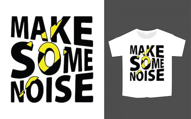 Stilvolles t-shirt design mit modernem schriftzug für druck