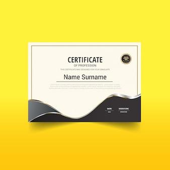 Stilvolles zertifikat