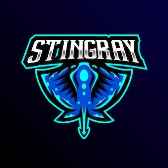 Stingray maskottchen logo esport spiel