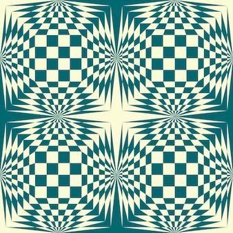 Stock-vektor-hintergrund. geometrisches muster der schachgrünfarbenillustration.