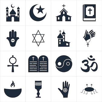 Stock vektorgrafik illustration religiösen icons