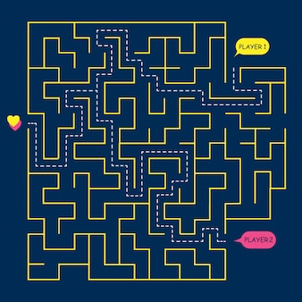 Stock vektorgrafik runde labyrinth labyrinth,