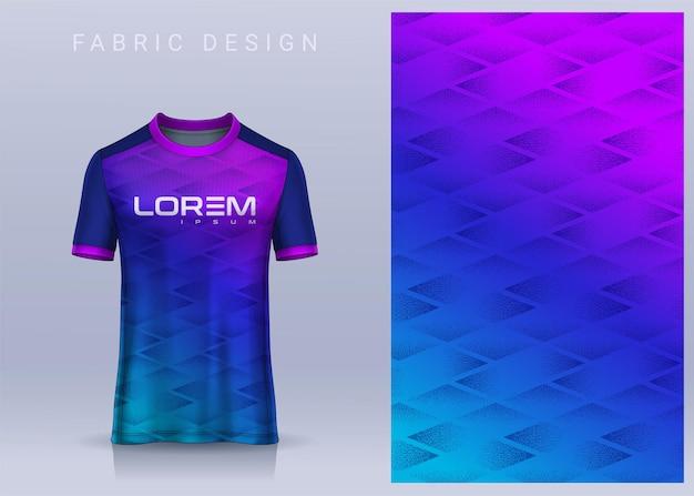 Stoff-textil-design für sport-t-shirt fußball-trikot für fußballverein-uniform-vorderansicht