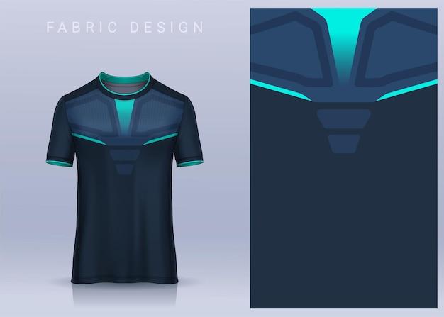 Stoff-textil-design für sport-t-shirt fußball-trikot-modell für fußballverein