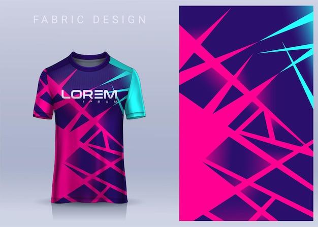 Stoff-textil-design für sport-t-shirt fußball-trikot-vorlage für die vorderansicht der fußballvereinsuniform