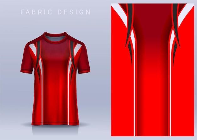 Stoff-textil-design für sport-t-shirt fußball-trikotvorlagefür fußballverein-uniform-vorderansicht