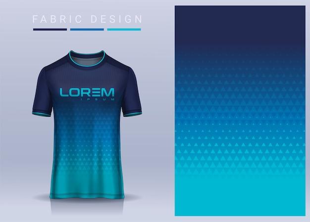 Stoff textil für sport t-shirt fußball trikot vorlage für fußballverein uniform vorderansicht