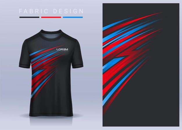 Stoff textil für sport t-shirt, fußballtrikot für fußballverein. einheitliche vorderansicht.