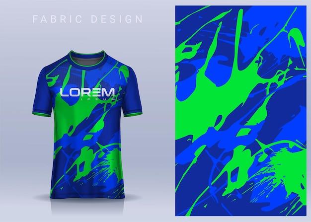 Stoff textildesign für sport t-shirt fußballtrikot für fußballverein uniform vorderansicht
