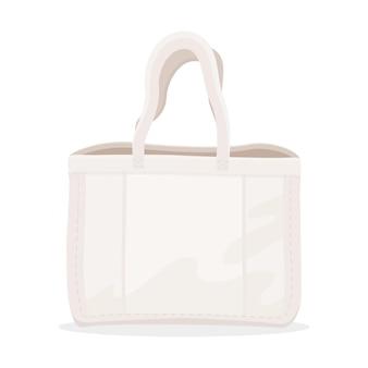 Stofftasche im flachen design