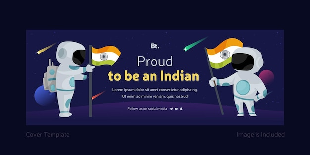 Stolz darauf, eine indische facebook-deckblattvorlage zu sein