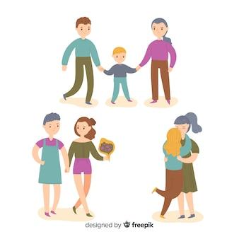Stolz tag paare und familien sammlung