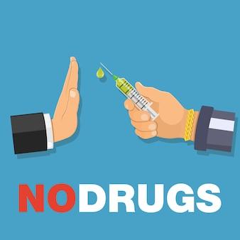Stop drogenkonzept