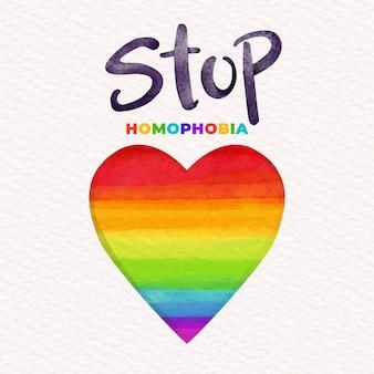 Stop homophobie konzept dargestellt