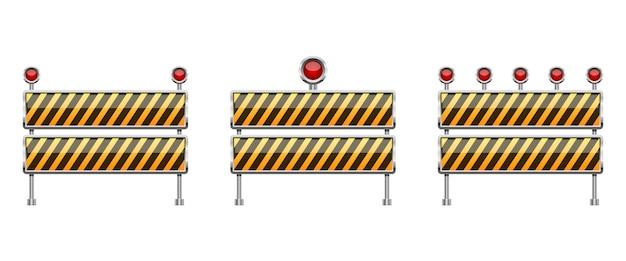 Stoppbarriereillustration lokalisiert auf weißem hintergrund