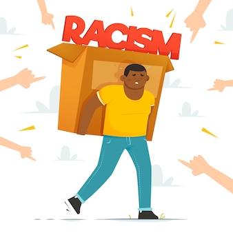 Stoppen sie abstrakte illustration des rassismus