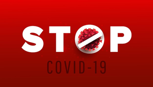 Stoppen sie das coronavirus-banner