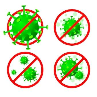 Stoppen sie das coronavirus-konzept
