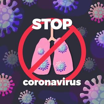 Stoppen sie das coronavirus-zeichen