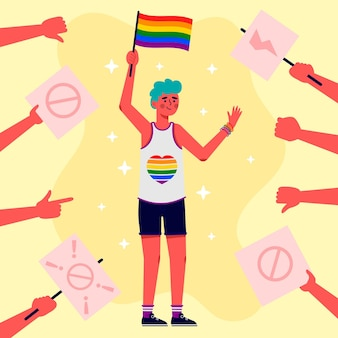 Stoppen sie das homophobie-konzept