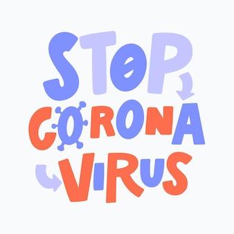 Stoppen sie das thema der coronavirus-infektion