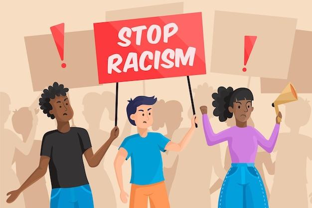 Stoppen sie das thema rassismus