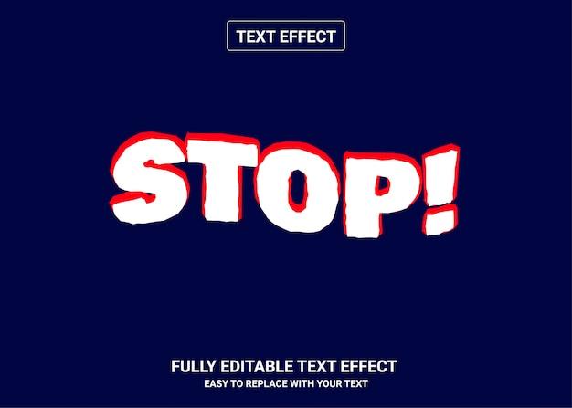 Stoppen sie den bearbeitbaren textstileffekt