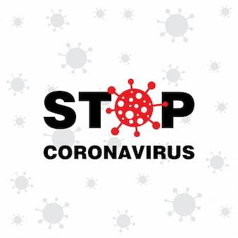 Stoppen sie den coronavirus-hintergrund mit dem schönen coronavirus-symbol