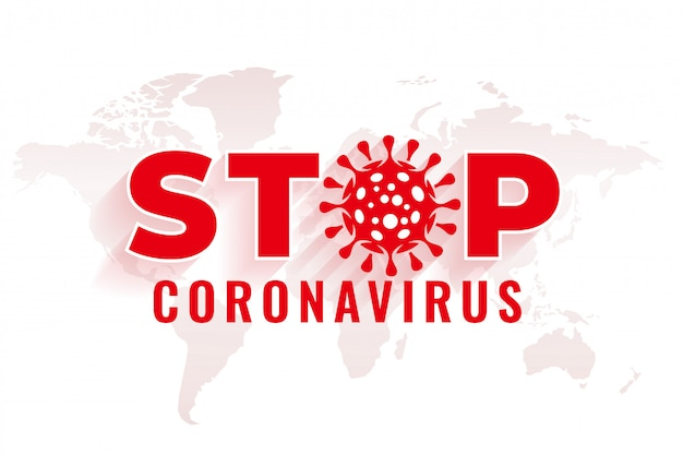 Stoppen sie den coronavirus-hintergrund mit dem virensymbol-design
