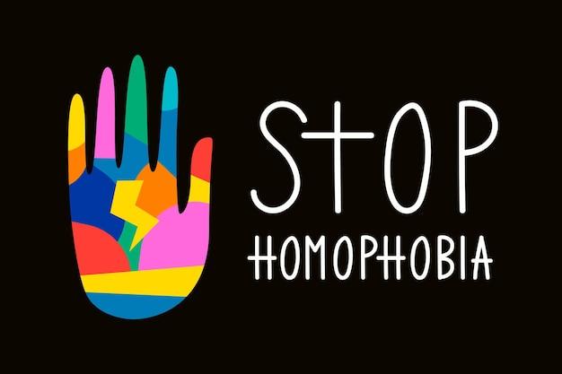 Stoppen sie den homophobie-stil