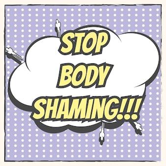Stoppen sie den körper zu beschämen