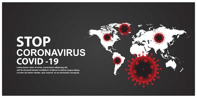 Stoppen sie den neuen koronavirus mit der karte
