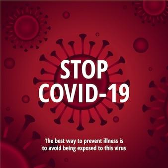 Stoppen sie die abbildung des coronavirus