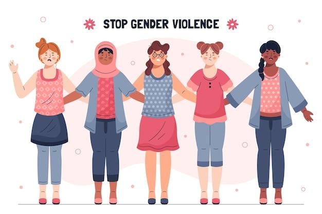 Stoppen sie die bewegung für geschlechtsspezifische gewalt