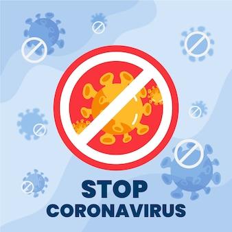 Stoppen sie die coronavirus-covid-19-pandemie-grippe