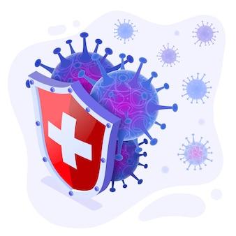 Stoppen sie die coronavirus-illustration