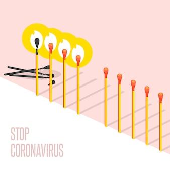 Stoppen sie die coronavirus-match-sammlung