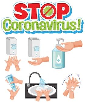 Stoppen sie die korona durch händewaschen