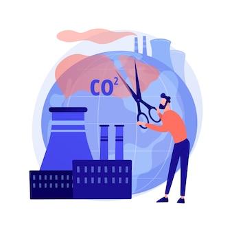 Stoppen sie die luftverschmutzung. kohlendioxidreduzierung, umweltschäden, atmosphärenschutz. toxisches emissionsproblem