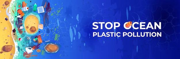 Stoppen sie die plastikverschmutzung des ozeans