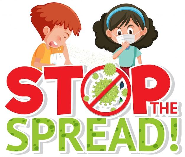 Stoppen sie die verbreitung des corona-virus-zeichens