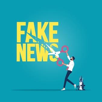 Stoppen sie die verbreitung gefälschter nachrichten und fehlinformationen im internet