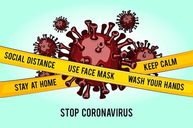 Stoppen sie gefangene coronavirus-bakterien