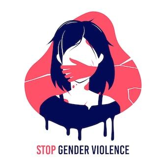 Stoppen sie geschlechtsspezifische gewalt
