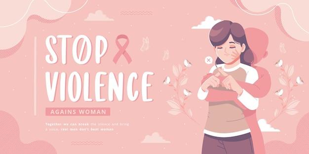 Stoppen sie gewalt gegen frauen bewusstseinsbanner-vorlage