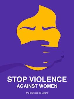 Stoppen sie gewalt gegen frauen konzept poster.