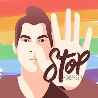 Stoppen sie homophobie design